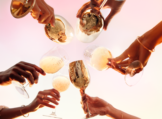 Moet & Chandon Grand Day toast